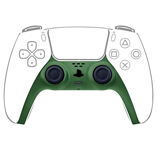 Decorative Strip Case Cover for PS5 Dualsense Controller, Ackmioxy PS5 Accessories DIY PS5 Controller Skins Replacement Shell Color Replacement Decoration Accessories for PS5 Controller Panel (Green)