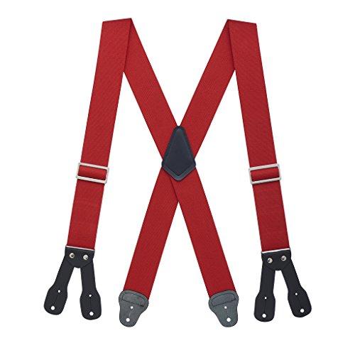 Suspender Store Mens Logger Suspenders - BUTTON (4 sizes, 4 colors)