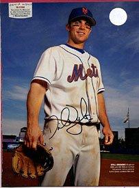 David Wright Autographed/Signed Magazine Page