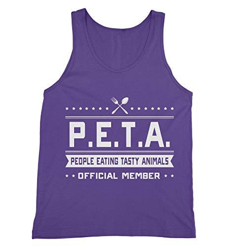 People Tasty Eating Animals (PETA - People Eating Tasty Animals - Funny Anti Vegetarian - Mens Tank TOP - Purple)