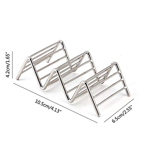 rack holder Holder Stand Rack Stainless Steel Hard Soft Shells Wave Mexican Food Rack Pizza Tool Restaurant Food Show Tools