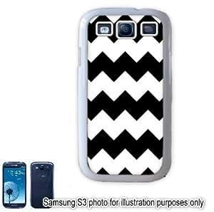 Black Chevrons Pattern Samsung Galaxy S3 i9300 Case Cover Skin White