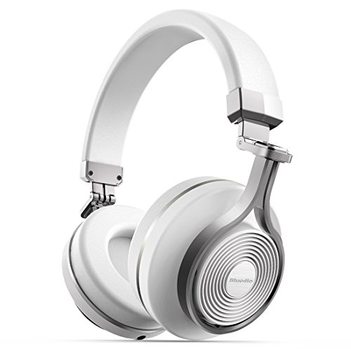 Amazon Lightning Deal 96% claimed: Bluedio T3 (Turbine 3rd) Extra Bass Wireless Bluetooth 4.1 Stereo Headphones (White)