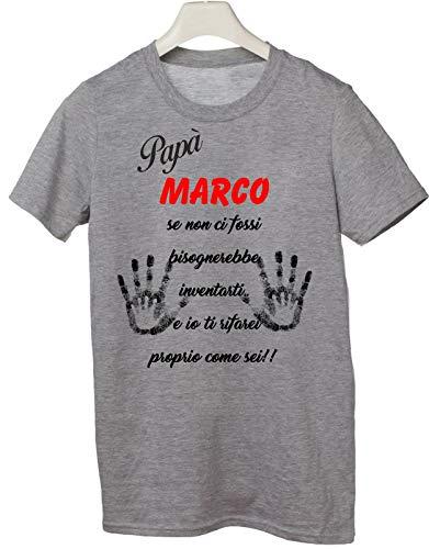 Bisognerebbe Fossi Del T shirteria Grigio nome Non Inventarti Ci Tshirt Con Personalizzabile Personalizzato Se Festa Papà Regalo IUwUPvq