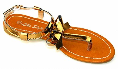Like Style Damen Sandalen 5207-12 Sandaletten Lack bronze