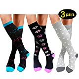 Compression Socks For Women Men 20-25mmHg-Best Medical, Nursing, Travel & Flight Socks - Running & Fitness Compression Stockings (L/XL, Assorted)