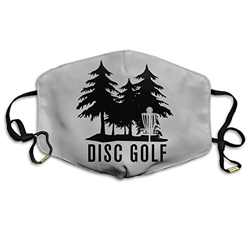 Disc Golf Novelty Polyester Adjustable Dust Pollen Allergens Flu Germs Home Mouth Mask (One Size 18cm11cm)