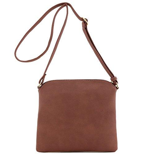 with Lightweight Crossbody Taupe Medium Mauve Bag Tassel q4zpP