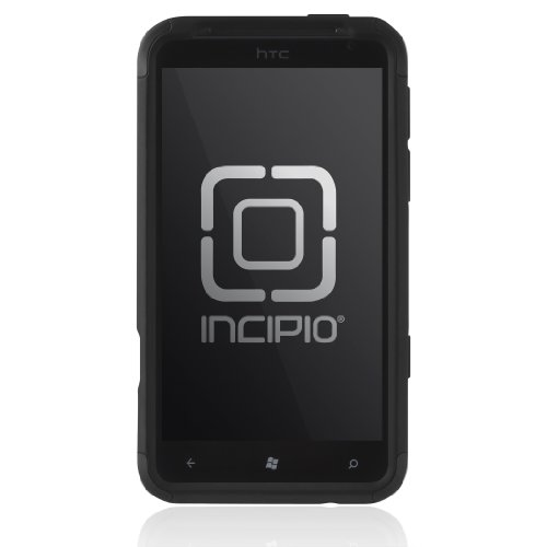 Incipio HT-242 HTC Titan SILICRYLIC Hard Shell Case with Silicone Core - 1 Pack - Carrying Case - Retail Packaging - Black/Black