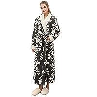 UOKNICE Sale Sexy Unisex Winter Lengthened Coralline Plush Shawl Bathrobe Long Sleeved Robe Coat