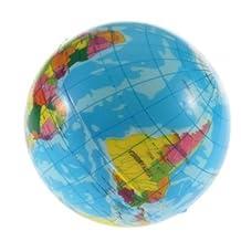 DETL World Map Foam Earth Globe Stress Relief Bouncy Ball Atlas Geography Toy