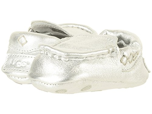 UGG Kids I Sivia Metallic Slip-on,Silver,3 M US Infant ()