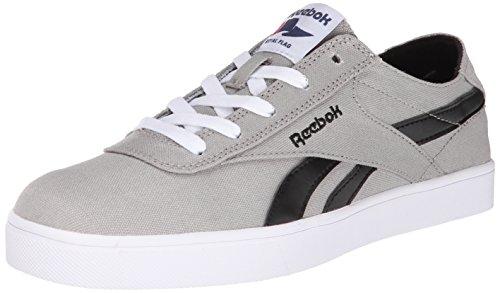 Reebok Men's Royal Global Vulc Classic Shoe, Flat Grey/White/Black, 10.5 M US