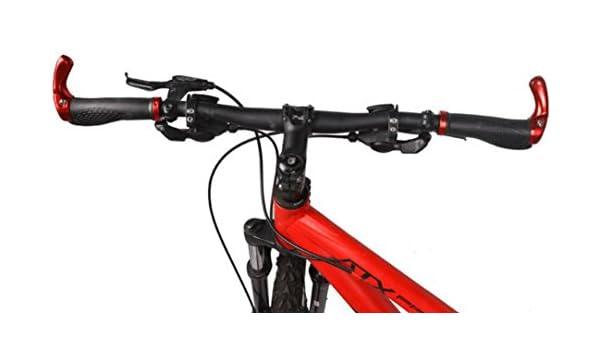 Yudanwin Accesorios para manillar de bicicleta de montaña, 1 par, mango de goma, color rojo: Amazon.es: Jardín