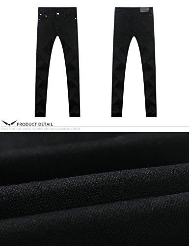 Da amp;hunter Uomo Elasticizzato Normale Dh8020 Stretti 808 Jeans Nero X Di Serie Gioventù Demon 8qAdHd