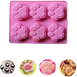 Bolayu Soap Ice Cube Mold Cat Paw Print Silicone Cookie Cake Candy Chocolate Mold