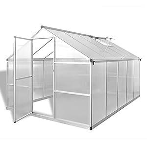 Tidyard Serra in Alluminio Rinforzato con Telaio di Base 7,55 m²,per Piante orto casetta Esterno 7 spesavip