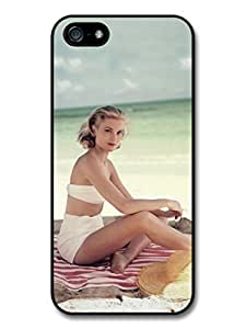 AMAF ? Accessories Grace Kelly Posing Beach Actress Princess case for iphone 6 4.7
