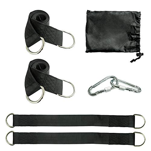 Neurotic Nannies Tree Swing Hanging Strap Kit with Swivel Mount All Swings Instantly