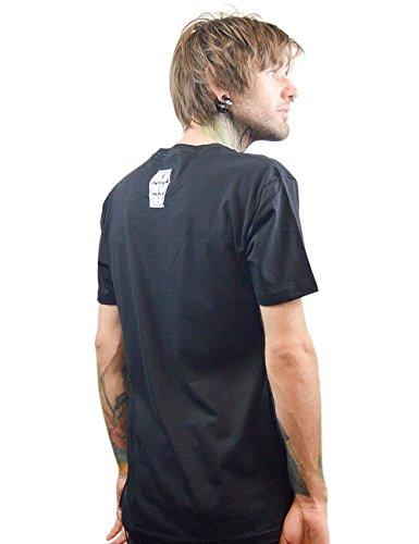de corta manga para Tinta negro Akumu Camiseta hombre fxnqx4Ow