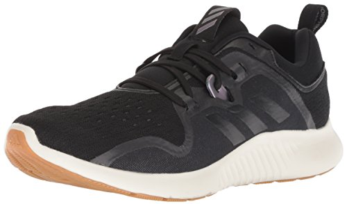 adidas Women's Edgebounce Running Shoe Black/Night Metallic, 7 M US