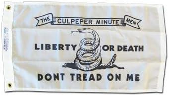 "12x18 12/""x18/"" Gadsden Liberty or Death Black Motorcycle Flag Grommets"