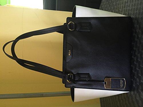 Lauren By Ralph Lauren Winchester Leather Modern Shopper Tote, Black & - Ralph Shopper