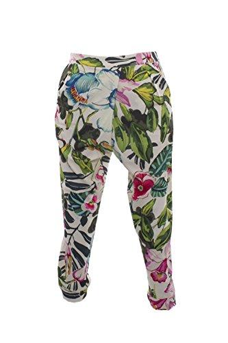 Desigual Floreado Beige Femme Pantalon Relaxed rqrF1Yw