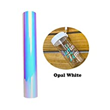 Opal Holographic Chrome Adhesive Vinyl Roll 1x4ft Opal White
