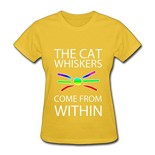(Women's Dan And Phil Cat Whiskers Poster Tshirts Brand New Yellow Size)