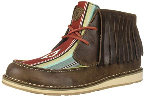 (Ariat Women's Cruiser Fringe Moccasin, Palm Brown/Indian Saddle Blanket, 10 B US)