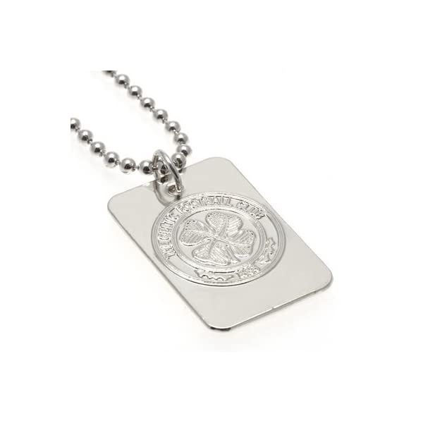 Boyfriends For Christmas A Great Gift // Present For Men Sons Fathers Day Dads Husbands Boys Anniversaries Or Just As A Treat For Any Avid Football Fan Valentines Day Official Rangers FC Silver Plated Pendant And Chain Birthdays