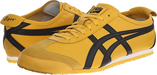 (Onitsuka Tiger Mexico 66 Fashion Sneaker, Yellow/Black, 7.5 M Men's US/9 Women's M)