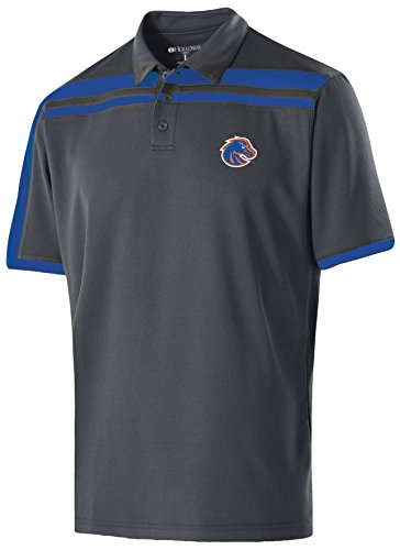 Ouray Sportswear NCAA Boise State Broncos Men's Charge Polo, Medium, Carbon/Royal