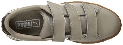 Hombre Basket Classic Strap Citi Fashion Sneaker, Vintage Khaki / Black Coffee, 4 M US