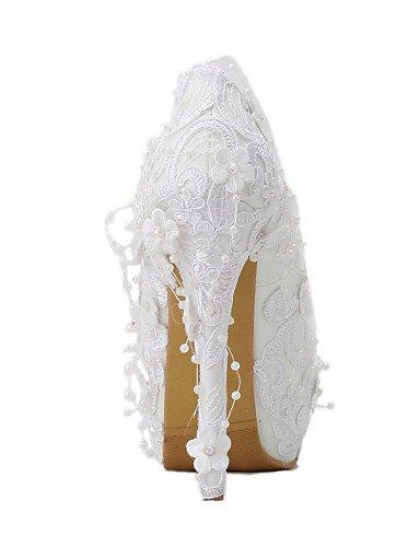 GGX/ Damen-Hochzeitsschuhe-Absätze-High Heels-Hochzeit / Kleid / Party & Festivität-Weiß 5in & over-us7.5 / eu38 / uk5.5 / cn38