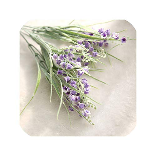 Of The Lily Bouquet Valley (Artificial Flower Lily of The Valley Fake Flower Bouquet Plastic Rural Country Style Wedding Party Home Garden Decoration,Purple)