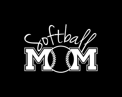 (Stick It On Decals Softball Mom Car Decal/Sticker)
