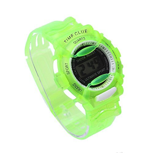 SMTSMT Students Waterproof Digital Wrist Sport Watch - Green