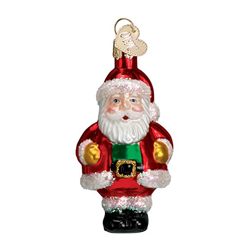 Old World Christmas Ornaments: Assorted Miniature Santa Glass Blown Ornaments for Christmas - Jolly Old Santa Miniature