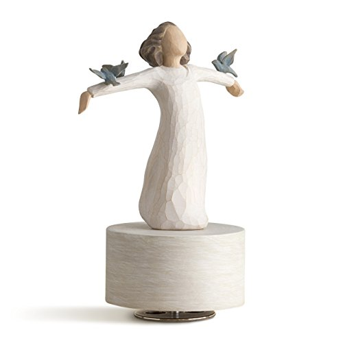 Willow Tree Happiness Musical, sculpted hand-painted musical - Music Figurine Angel