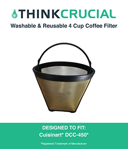 High Quality GTF4 Gold Tone Washable and Reusable Coffee Fil