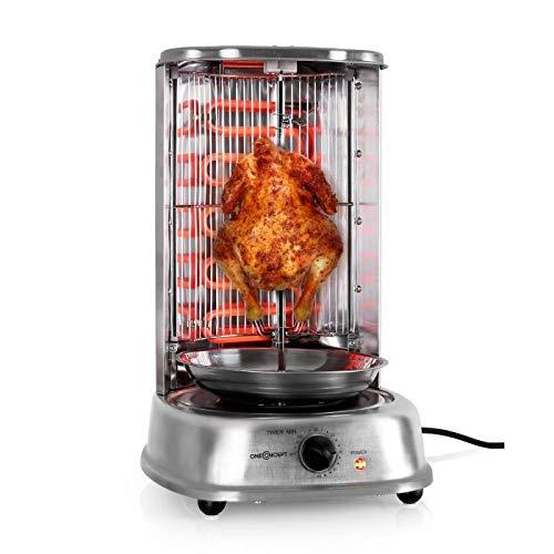 oneConcept Kebab Master - Parrilla vertical giratoria, Pollo ...