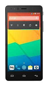 BQ Aquaris E5 HD - Smartphone libre Android (pantalla 5 pulgadas, cámara 13 Mp, 16 GB, Quad-Core 1.3 GHz, 1 GB RAM), blanco y negro