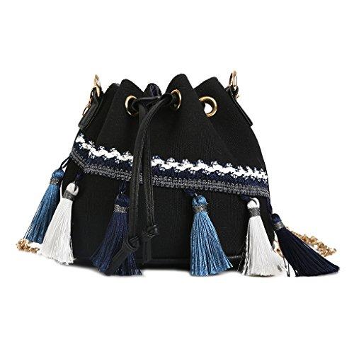 Sac femme à à 3TT700163 l'épaule Wanfor pour Noir porter p5FqcCU