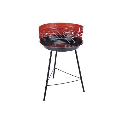 Barbecuegrill rund / Rundgrill / Standgrill Ø 33 cm mit Windschutz
