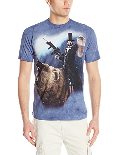 The Mountain Men's Lincoln The Emancipator T-Shirt, Blue, Large