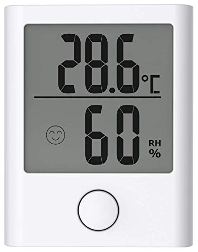 - BALDR Digital Mini Hygrometer Indoor Thermometer Small Versatile Home Indoor Outdoor Refrigerator Hygro-Thermometer Accurate Monitor Temperature Humidity Gauge Indicator Room for Greenhouse,White
