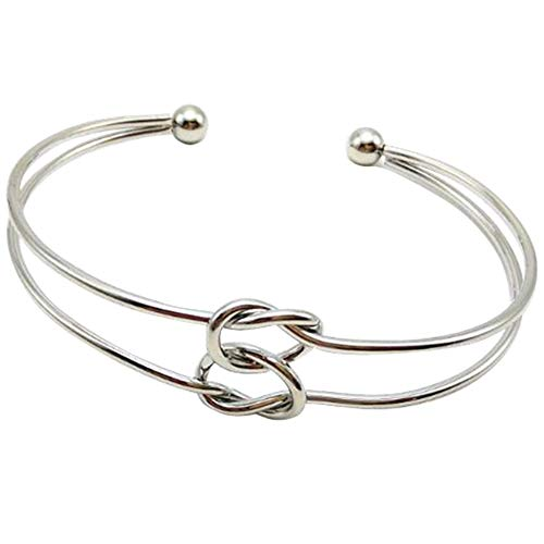 Jude Jewelers Heart Infinity Knotted Bangle Bracelet Bridesmaid Graduation Anniversary Promise Gifts Silver