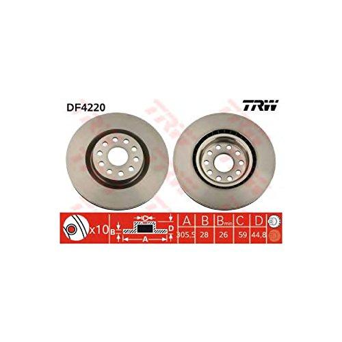 Genuine TRW Vented Brake Discs - Part Number DF4220: